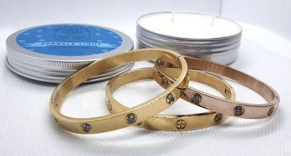 Fragrantly Sparkle Light armband cuffs met geurkaars