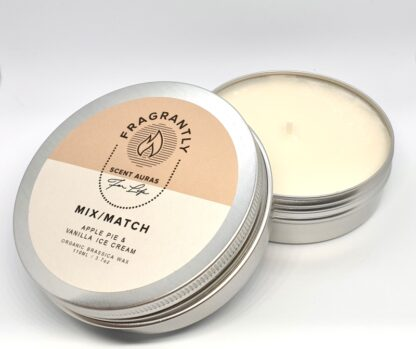 MixMatch nr 5 scented candle - Apple Pie and Vanilla ice-cream 110 gr - side angle
