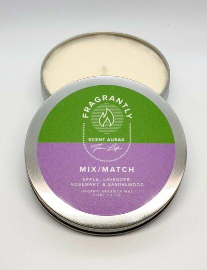 front view - Mix Match nr 7 - Apple, Lavender, Rosewood & Sandalwood geurkaars