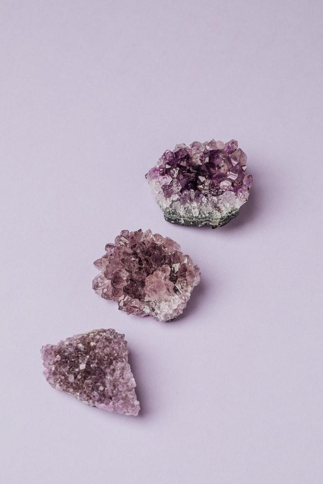 Amethist edelsteen - Fragrantly crystal geurkaarsen