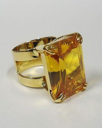 Goudtopaas kristal ring - Fragrantly geurkaarsen