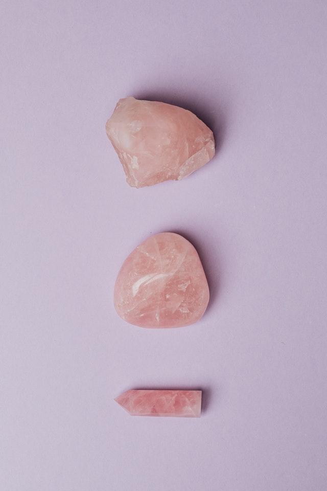 Rozenkwarts edelsteen - Fragrantly crystal geurkaarsen